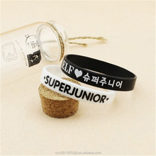 Wholesale KPOP wristband Super Junior SJ rubber bracelet for Men or Women bracelet
