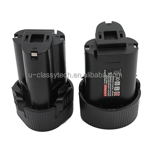 2-Pack Replacement Power Tool Battery 10.8V 1.5Ah Li-Ion for Cordless Drill Impact Driver BL1013, BL1014, 194550-6, 19455