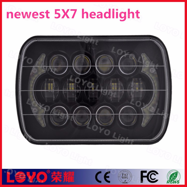 "2017 top sell 5x7 inch 7"" square headlight 105W led for truck and off road auto"