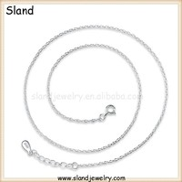 basic LINK BY LINK CHAIN neck jewelry italy 925 sterling silver rolo chain necklace wholesale ,100pcs Low MOQ