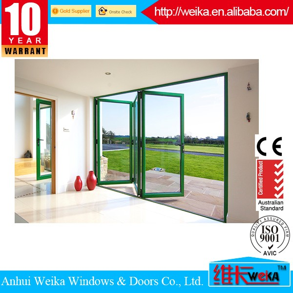 China gold supplier Popular USA&Australia style exterior glass folding door price