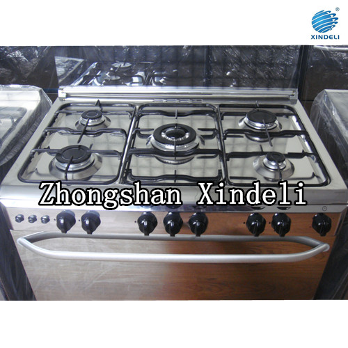 Cooking range with Electroplating grid, Enamel Tray, Enamel flame leader tray