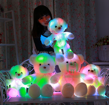 HI CE valentine gift 35cm Teddy bear with light,gift valentine wholesale with high quality