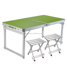 2016 Portable folding table and chair set Aluminum Folding Beach Table DF-19-26