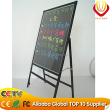 Alibaba new products 60*80cm led outdoor advertising board integrated stand advertising LED writing board for shops promotion
