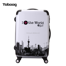 2017 New design ABS+PC Luggage with TSA code lock spinner superlight