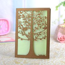 laser cut wedding invitations tree/greeting card for christmas decorations