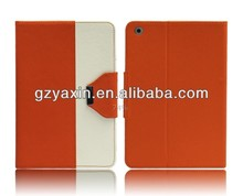 Best sale double color leather pouch case for ipad mini