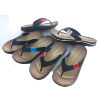 Summer new design beach printing eva flip flops mens