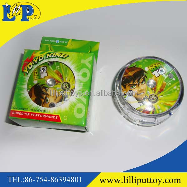 Hot selling Promotional Plastic cheap toy yoyo with light
