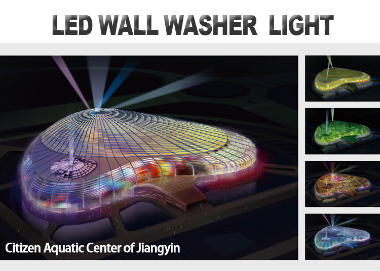 Panatorch 100cm Aluminum IP66 24V RGB Color change 12w led wall washer facade lighting