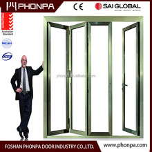 2016 PHONPA Sliding type balcony folding door aluminum door China supplier