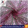SHINY SEQUIN CHEMICAL LACE EMBROIDERY FABRIC SQUARE DESIGN FOR DRESS OR GARMENT