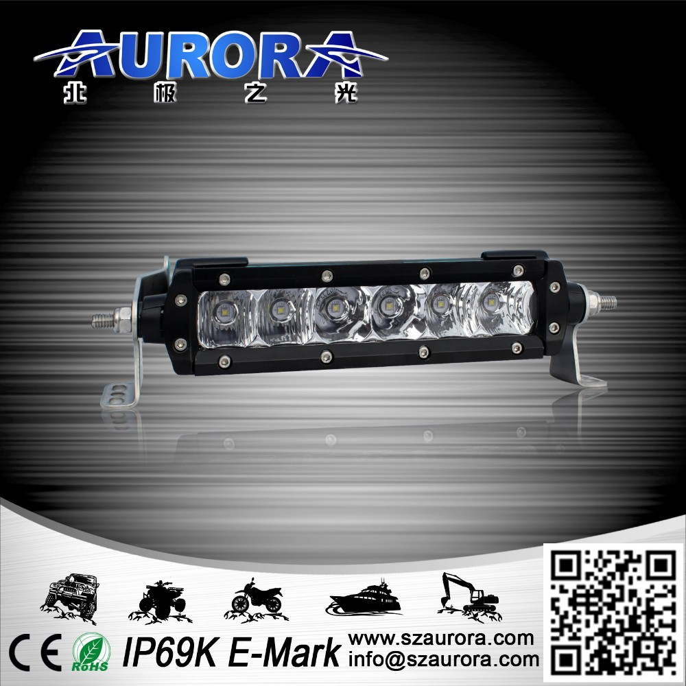 "6"" single row led light bar led light utv 4x4"