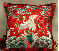 2013 new design chinese phoenix plastic sofa cushion cover
