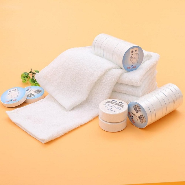Super cheap disposable face airline towel 100% cotton