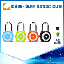 Door anti-theft brand top combination remote practice colored motorcycle bluetooth electric padlock for Android/iphone