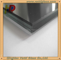 Qingdao High quality 6+1.52PVB+6 13.52mm euro grey tinted color laminated tempered stained glass for large glass window
