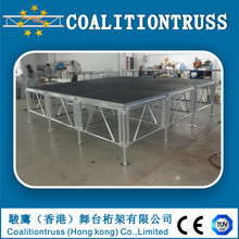 Factory price aluminum plywood portable stage/stage platform for concert