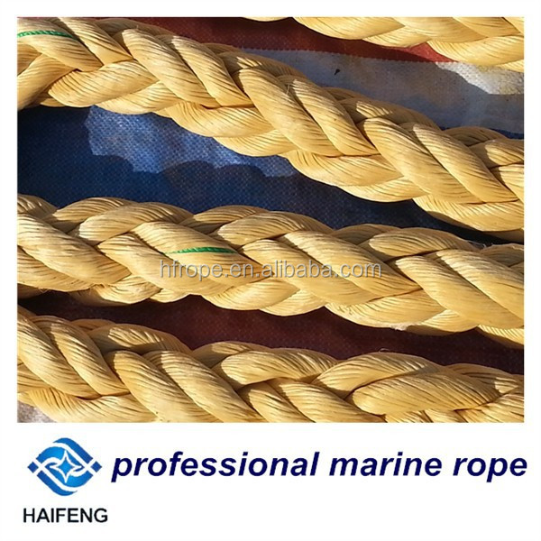 1.5 times stronger than the same diameter of wire rope