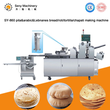 Fully automatic high capacity Chapati Pita Tortilla Roti bread Lavash making machine with natual gas oven