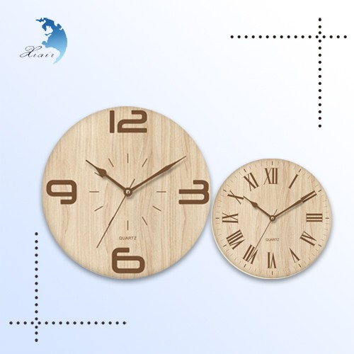 Wholesale home decorative 24 hour time digital antique wooden wall clock
