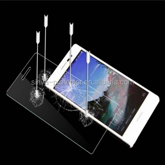 Wholesale high quality anti-scratch 9H 2.5D round edge 0.33mm tempered glass safeguard screen protector for huawei honor 3