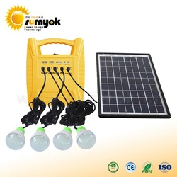 10W solar panel portable solar power energy system with mobile charger solar lighting kit