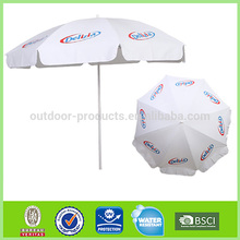 top 10 Sun protection Polyester advertising white beach umbrella