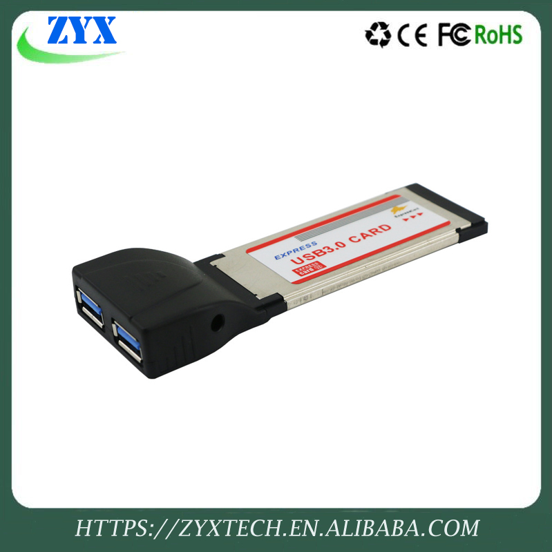 2 Port ExpressCard FireWire Laptop Adapter Card