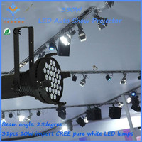 Led car exhibition stage lighting 31*10w led par can light with barn door fashion show lighting equipment