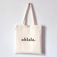 simple custom logo print high quality wholesale plain white cotton fabric tote bags