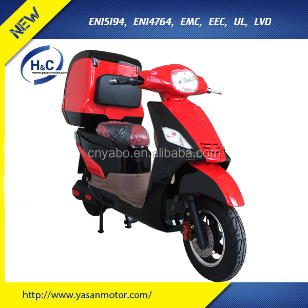 EEC pizza delivery motorcycle with 3000W high powerful motor pizza delivery box