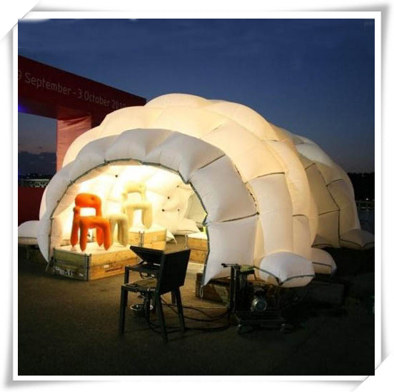 Diameter 8meter new design inflatable LED light party tent for sale