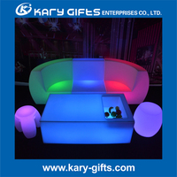 Unique led furniture color changed led sofa sets led glowing bar tables