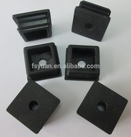 Square Grommet Rubber / Rubber Cap With Hole / Square Silicone Insert Plug