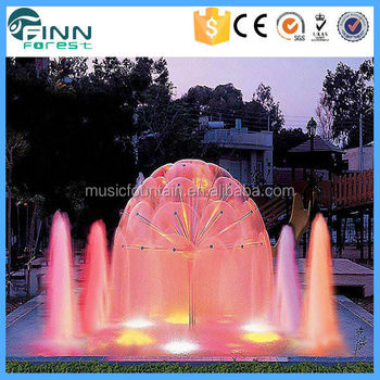 Dandelion shape garden decoration new park music fountain