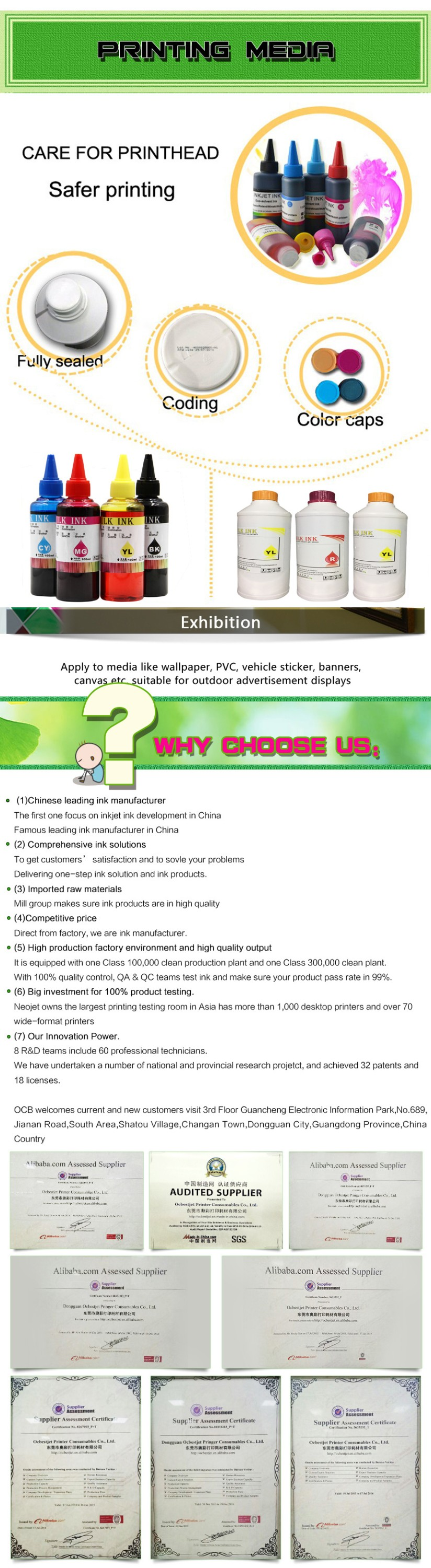 Ocbestjet Best Selling 9 color Dye Sublimation Offset Ink for Epson Printer kiian sublimation ink