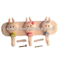 plastic durable rabbit wall-door-clothes hook