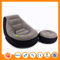 Home furniture flocked cheap self inflating inflatable living room air sofa