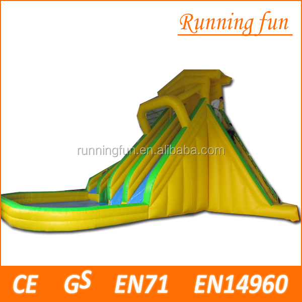 children game jumpimg palm tree inflatable water slide, inflatable water slide