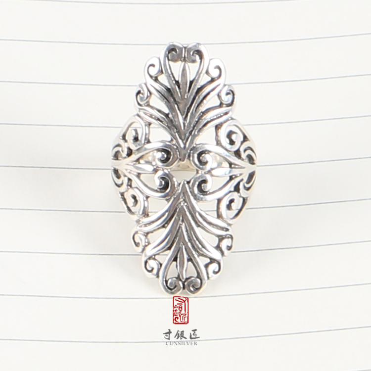 Cunsilver Best Seller 925 Sterling silver filigree diamond shape Italian silver ring With Discount