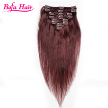 Wholesale Unprocessed Clip In Human Hair Extensions For Black Women