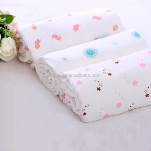 High quality 47''x47'' 100% boy and girl organic cotton and bamboo baby 3 muslin swaddle blankets