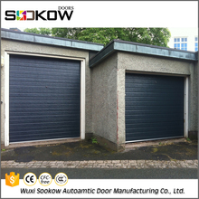 Factory sale steel garage door styles plastic window panel