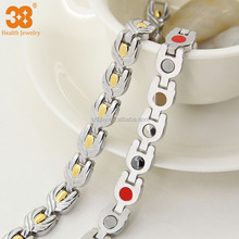 Silver and Gold Infrared Girl Gift Stainless Steel Ankle Bracelets