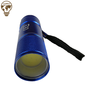 Factory Customized Promote cheap Aluminum Mini COB Flashlight with rope