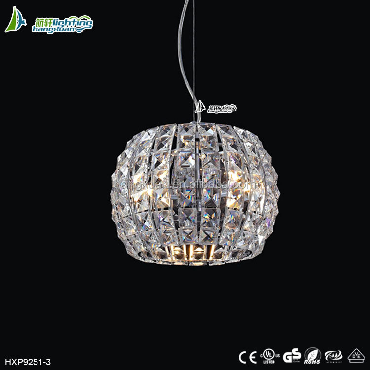 Decorative glass ball baccarat modern crystal chandelier lighting