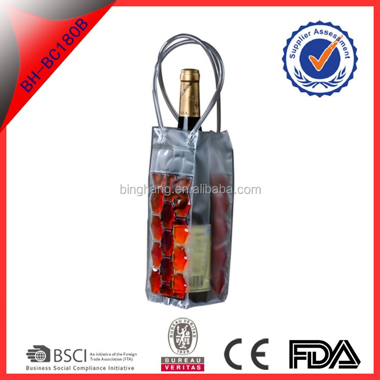 gel pack wine cooler plastic bag with different shape and color