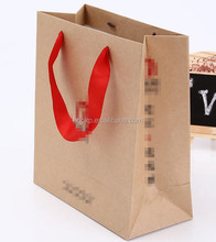 custom bag stand up and made of kraft paper